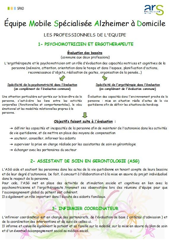 unités spécifiques alzheimer recommandations